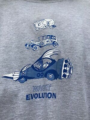 Wacky Races Dick Dastardly & Muttley Cars  T Shirt Grey Marl Size S • 9£