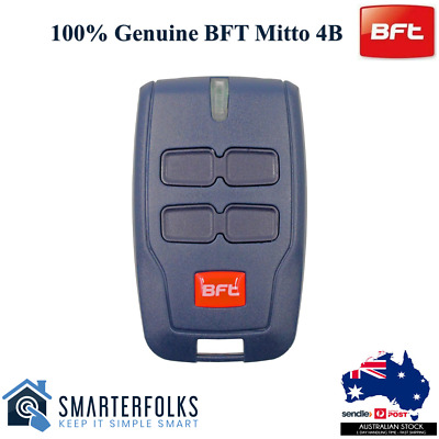 AU33.95 • Buy BFT Genuine Original Gate/ Garage Remote Mitto Type B RCB TX2/TX4/0678 4 Button