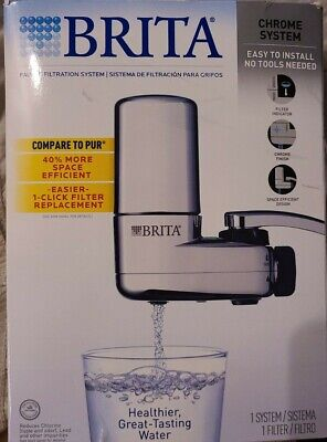 Brita On Tap Chrome Water Faucet Filtration System Standard Faucets Only, Chrome • 15.35£