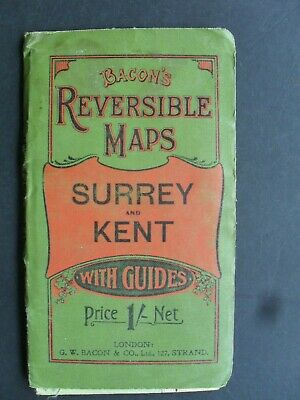 £9.99 • Buy BACONS Reversible Map Surrey And Kent Guides And Cycling Routes