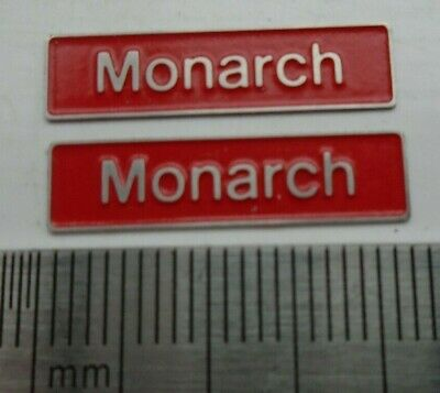 AU17.83 • Buy 50010 Monarch. O Gauge Etched 7mm Scale Nameplates. Self Adhesive. Red B/g