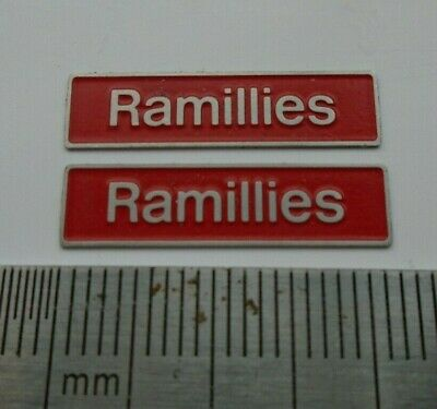 AU17.83 • Buy 50019 Ramillies. O Gauge Etched 7mm Scale Nameplates. Self Adhesive. Red B/g