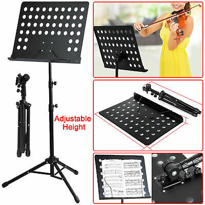 Heavy Duty Foldable Music Stand Orchestral Conductor Sheet Tripod Base Holder • 12.75£