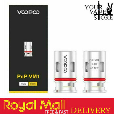 VOOPOO PnP - VM1 0.3 Ohm | Pack Of 5 • 9.89£