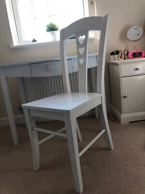 White Wooden Desk And Chair Set (Next Home) - Girls / Teen Bedroom /Study • 150£