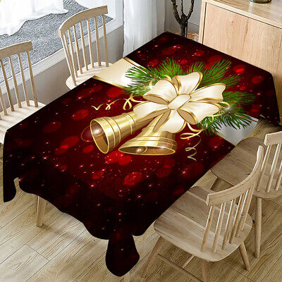 AU28.96 • Buy Christmas Tablecloth Rectangle Dining Table Cloth Cover Xmas Party Home Decor