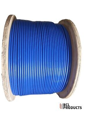 Blue PVC Coated Wire Rope - 4mm Coated To 6mm 7x19 Galvanised Wire Rope  • 1£
