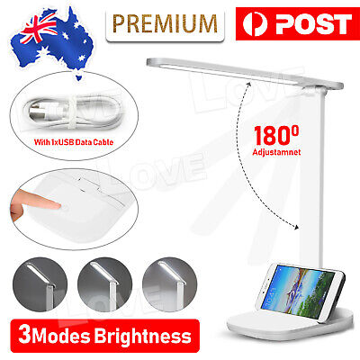 AU13.95 • Buy Table Lamp Bedside Desk Light USB LED Touch Reading Dimmable Home Bedroom Study