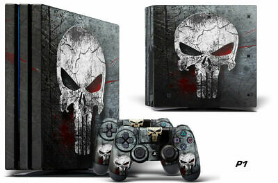 AU19.25 • Buy Decal Skin Wrap For PS4 PRO Playstation 4 Pro Console & Controller Stickers SKUL