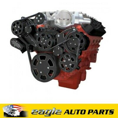AU4650 • Buy Chev LSA Engine A/C, Alt & P/S Black Wraptor Serpentine Kit  # BD-LSA-WRAPTOR-AC