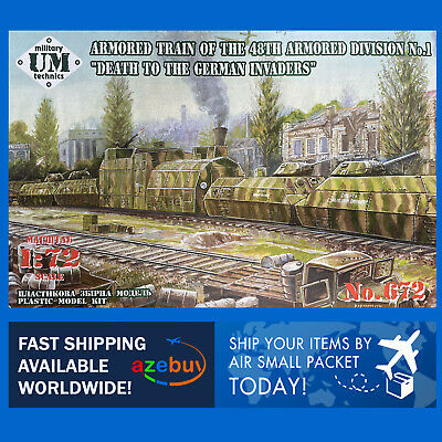 $84.19 • Buy Armored Train 48 Division Of Armored Trains WWII 1/72 Plastic Model Kit UMT 672
