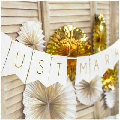 £3.29 • Buy Just Married Mr And Mrs Wedding Party Foil Banner Bunting Decorations Banners