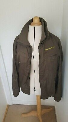 55 Soul Waterproof Jacket - X Large - Khaki & Lime Green - Excellent Condition • 30£