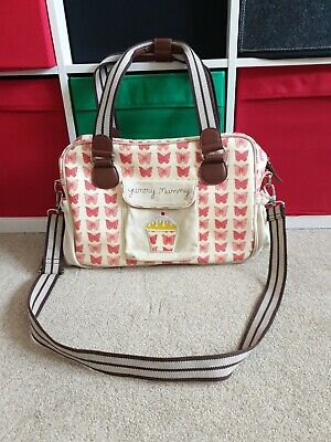 Yummy Mummy Changing Bag * Pink Butterflies * Pink Lining *GREAT CONDITION* • 16.99£