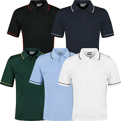 £7.99 • Buy Mens Polo Shirts Short Sleeve Regular Fit Breathable Pique Work Casual Plain Top