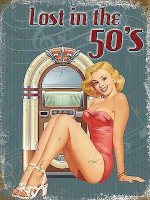 £6.95 • Buy 1950s Retro Metal Wall Sign Plaque Kitchen Pictures American Diner Home Decor UK