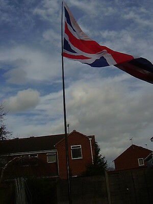 5m Telescopic  + Ground Stake Pole.fly Your Flags And Windsocks  • 16£