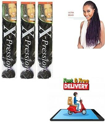 3X Xpression Kanekalon Ultra Braiding Hair 3pcs DEAL Cheapest Price • 2.78£