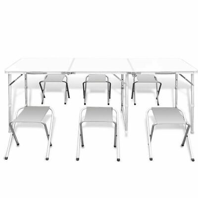£39.99 • Buy Camping Table Heavy Duty Folding  Picnic Table With Chairs BBQ Party 4ft & 6ft