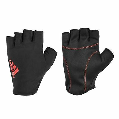 £10.99 • Buy Adidas Gloves Mens Essential Sports Training Weight Lifting Black Red New