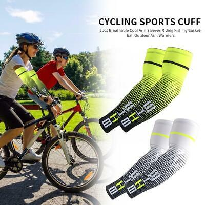 2pcs Compression UV Protection Arm Sleeves Outdoor Cycling Running Accessories • 5.38£