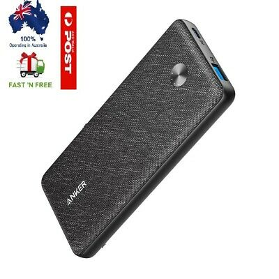 AU104.99 • Buy Anker PowerCore Essential PD18W 20000mAh PIQ2.0 Power Bank Black FABRIC- Black