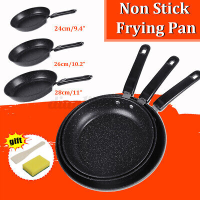 £12.19 • Buy Cast Iron Non-Stick Frying Enamel Pan Grill BBQ Skillet Reversible Griddle