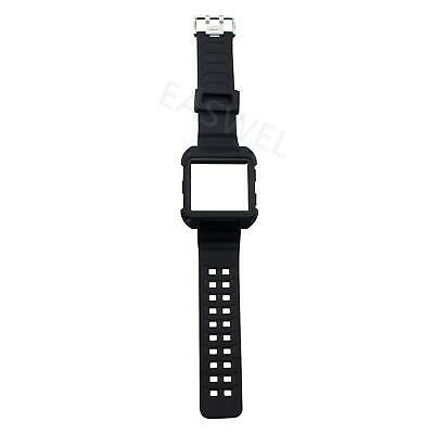 $ CDN11.16 • Buy Black Armor For Fitbit Ionic Rugged Band Protective Case Large Wristband Strap