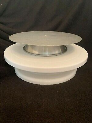 2 X Cake Decorating Turntable Rotating Cake Stand Vintage • 9.99£
