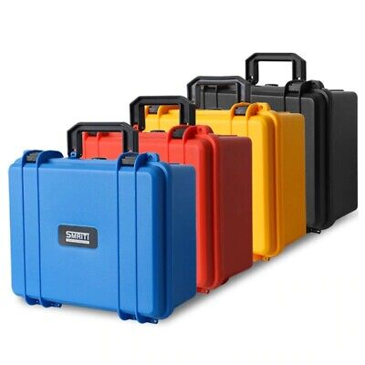 £38.21 • Buy Safety Instrument Tool Box ABS Plastic Storage Toolbox Sealed Tool Case Box With