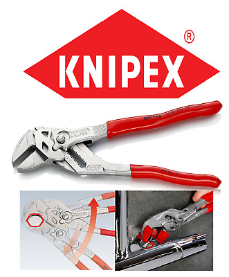 £51.50 • Buy KNIPEX PLIERS + WRENCH  2 In 1 Tool CHROME PLATED 250mm METRIC AND IMPERIAL 46mm