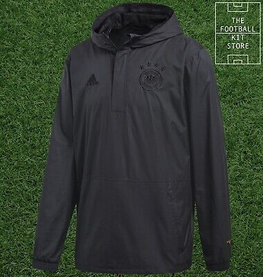 Germany Wind Jacket - Official Adidas Hooded Training Jacket - Mens - All Sizes • 42.99£