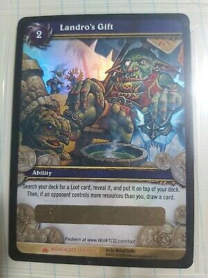 Landro's Gift WoW TCG Unscratched Foiled Loot Card • 150£