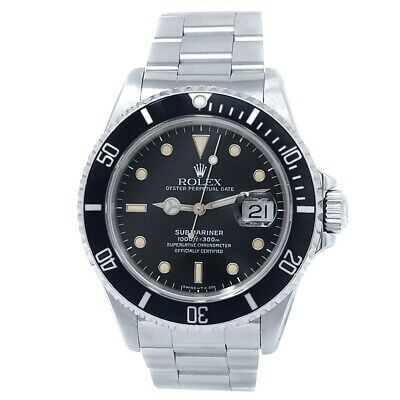 $ CDN10805.19 • Buy Rolex Submariner Stainless Steel Oyster Automatic Black Men's Watch 16610
