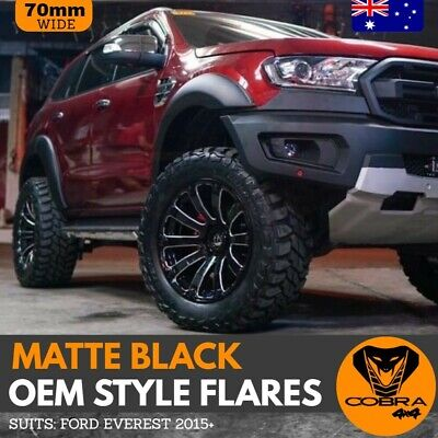 AU329 • Buy Matte Black OEM Fender Flares For Ford Everest 2015 To 2020 With Adhesive Tape
