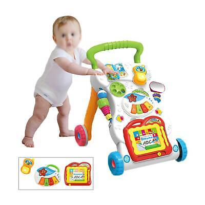 £24.79 • Buy 2in1 Baby Walker First Steps Activity Bouncer Musical Toys Car Along Ride On  Go