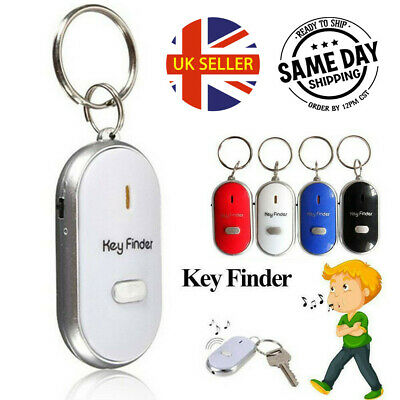 Whistle Lost Key Finder Find Key Location With Sound Control LED Torch Flash Uk • 2.30£