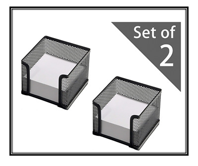 £10.99 • Buy OSCO 2-Pack Black Wire Mesh Memo Pad Holder.Includes Memo Pads,holds 400 Sheets.