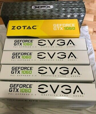 $ CDN59.95 • Buy Lot Of 6 Video Card Replacement BOXES ONLY GeForce GTX 1060 EVGA Zotac R9 390