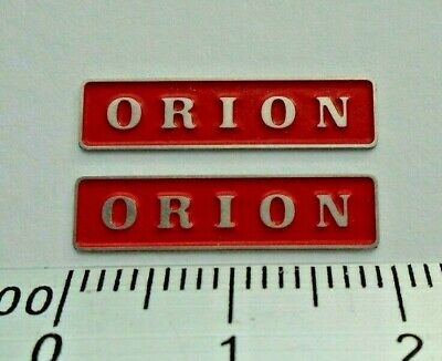 AU17.83 • Buy 47083 ORION. O Gauge Etched 7mm Scale Names. Self Adhesive. Red B/G