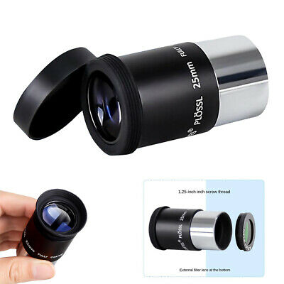Telescope Eyepieces 1.25in Plossl Eyepiece 25mm Lens For Astronomy Photography • 11.62£