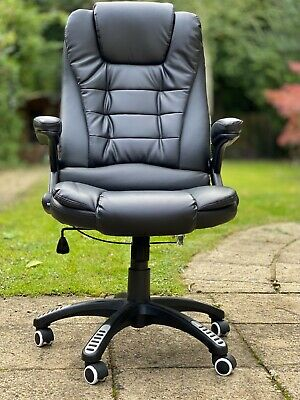 Cherry Tree Furniture Executive Recline Extra Padded Office Chair (Black PU) • 39.99£