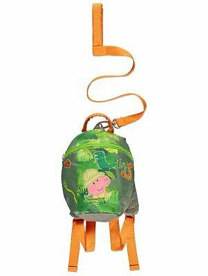 Boys George Pig Jungle Rucksack Bag With Reins Safety Harness Toddler BNWT • 14.99£