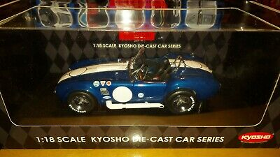 Rare KYOSHO 1:18 Scale SHELBY COBRA 427 S/C RACING Blue, Gorgeous Collection.  • 149.99£