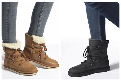 New UGG BNIB £200 Leather Fur LODGE Women's Casual Shoes Sneakers Boots Sale • 105£