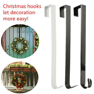 Metal Over Door 38cm Christmas Wreath Door Hanger Secure Xmas Decoration Hook @ • 4.93£
