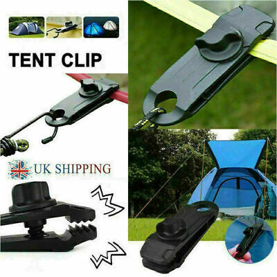 1/5/10 PCS Reusable Tent Tarp Tarpaulin Clip Clamp Buckle Camping Tool  UK • 1.99£