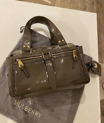 Mulberry Mabel Grey Patent Leather Bag • 100£