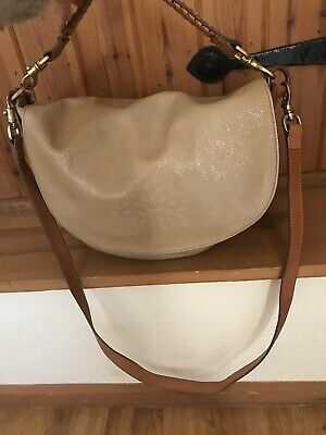 Mulberry Nude Effie Bag With Tan Plaited Leather Grab /  Shoulder Strap • 74.99£