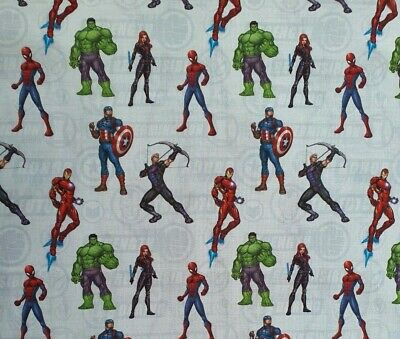 Marvel Avengers Assemble Spider Man  Avengers 100% Cotton Fabric • 7.60£